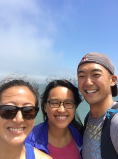 Connie, Jen, and I conquering Lands End.